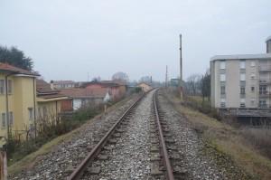 Massicciata verso il ponte in ferro