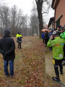 Bosco dei Giusti con volontaria parco