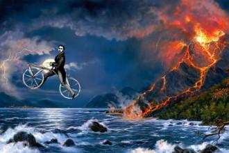 vulcano e bici - 1